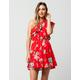LOVE FIRE Ruffle Floral Dress
