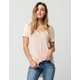 SIGNORELLI x ASHLEY TISDALE Womens Tie Front Top
