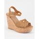SODA Braided Strap Womens Heels