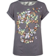 FULL TILT Butterfly Skull Girls Lace Back Tee