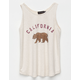 POOLHOUSE California Bear Girls Tank