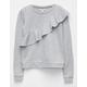 LOVE FIRE Ruffle Girls Sweatshirt