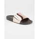YOKI Metallic Womens Slide Sandals