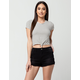 OTHERS FOLLOW High Waisted Womens Ripped Denim Shorts