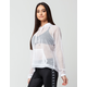POLLY & ESTHER Power Mesh Womens Hoodie