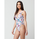 BIKINI LAB Floral Sheen Reversible One Piece Swimsuit