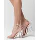 QUPID Clear Strap Womens Heels