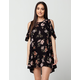 ANGIE Floral Cold Shoulder Dress
