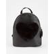 Fuzzy Heart Mini Backpack