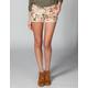 HIPPIE LAUNDRY Floral Crochet Girls Denim Shorts