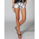 HIPPIE LAUNDRY Floral Denim Cutoff Womens Shorts
