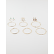 FULL TILT 9 Pairs Mint Leaf Hoop Earrings