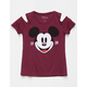 DISNEY Mickey Mouse Girls Cold Shoulder Tee