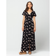 FULL TILT Floral Button Front Maxi Dress