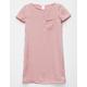 FULL TILT Hammered Satin Girls T-Shirt Dress