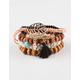 FULL TILT 5 Piece Beaded Tassel Leaf Bracelets