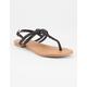 SODA Braided T-Strap Womens Sandals