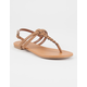 SODA Braided T-Strap Womens Sandals
