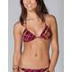 FULL TILT Plaid Triangle Bikini Top