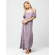 MIMI CHICA Cold Shoulder Maxi Dress