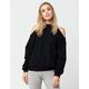 HONEY PUNCH Cold Shoulder Womens Sweatshirt