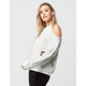 HONEY PUNCH Cold Shoulder Womens Sweatshirt