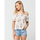 MIMI CHICA Floral Off The Shoulder Top