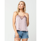 SOCIALITE Lace Satin Womens Cami