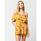 SOCIALITE Floral Off The Shoulder Womens Romper