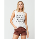AMUSE SOCIETY Wild Child Womens Muscle Tee