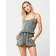 FULL TILT Washed Ruffle Womens Romper