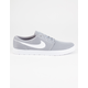 NIKE SB Portmore II Ultralight Wolf Grey & White Shoes