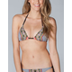 BEACH LINGO Ethnic Print Triangle Bikini Top