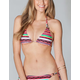 FULL TILT Tribal Print Triangle Bikini Top
