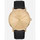 NIXON Porter Leather Black & Gold Watch