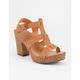 CITY CLASSIFIED Wood Heel Womens Heeled Gladiator Sandals