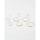 FULL TILT 9 Pairs Hoop & Gold Stud Earrings
