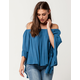 MARONIE Off The Shoulder Womens Ruffle Top