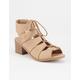 SODA Lace Up Girls Heeled Sandals