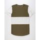ELWOOD Curved Hem Mens Panel T-Shirt