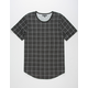 ELWOOD Grid Curved Hem Mens Tall Tee