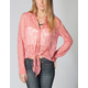 FULL TILT Lace Tie Front Womens Shirt