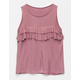FULL TILT Rib Ruffle Girls Tank