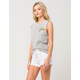 ALMOST FAMOUS Premium Button High Waisted Womens Shorts