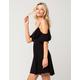 GOOD LUCK GEM Ruffle Cold Shoulder Dress