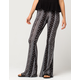FULL TILT Linear Floral Diamond Womens Flare Pants