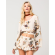 PATRONS OF PEACE Floral Womens Crop Top