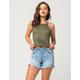 VANILLA STAR Premium Cutoff Womens Denim Midi Shorts