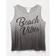 FULL TILT Beach Vibes Dip Dye Girls Tank
