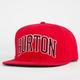 BURTON Warm Up Mens Snapback Hat